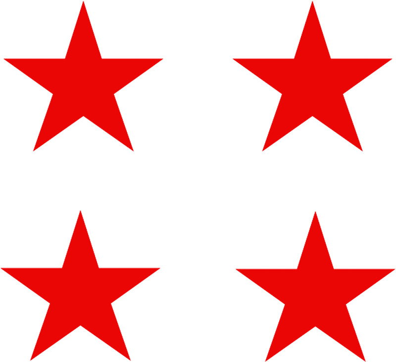 800x732 Four Red Stars Stickers By Harringe Redbubble