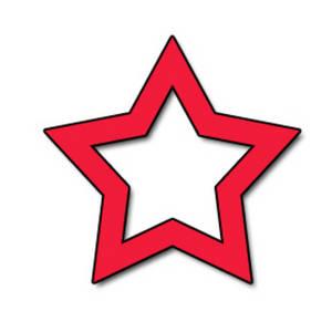 300x300 Red Star Clip Art Clipart Panda