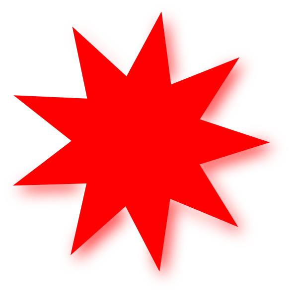 588x595 Red Star Clipart