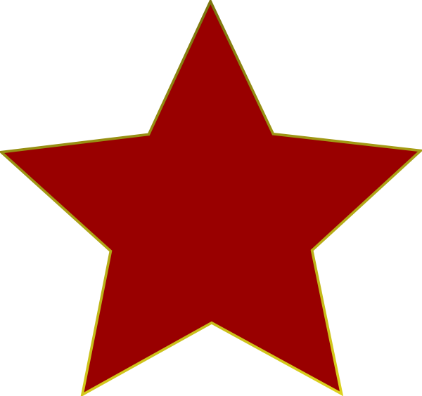 600x564 Red Star Cliparts