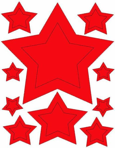 464x600 Red Star Wall Stickers For Kids Room Walls