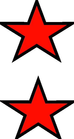 318x593 Red Stars Clip Art