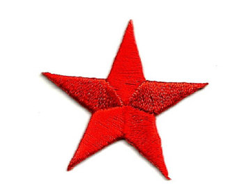 340x270 Red Star Patch Etsy