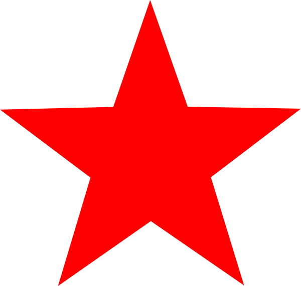600x571 Red Stars Clipart Collection