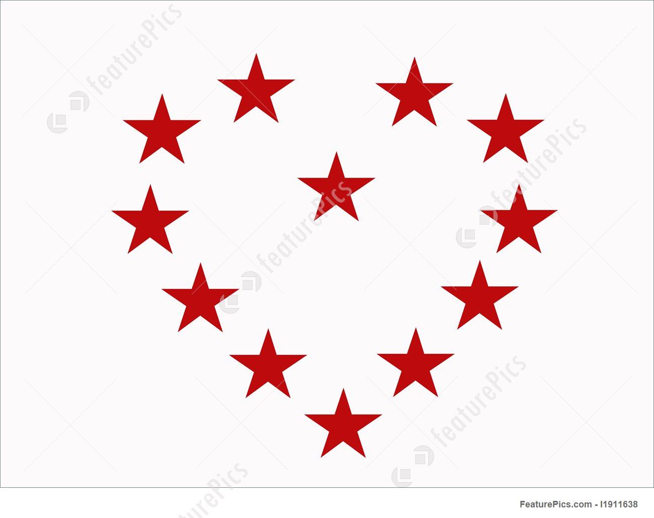 1300x1029 Stars Heart Illustration