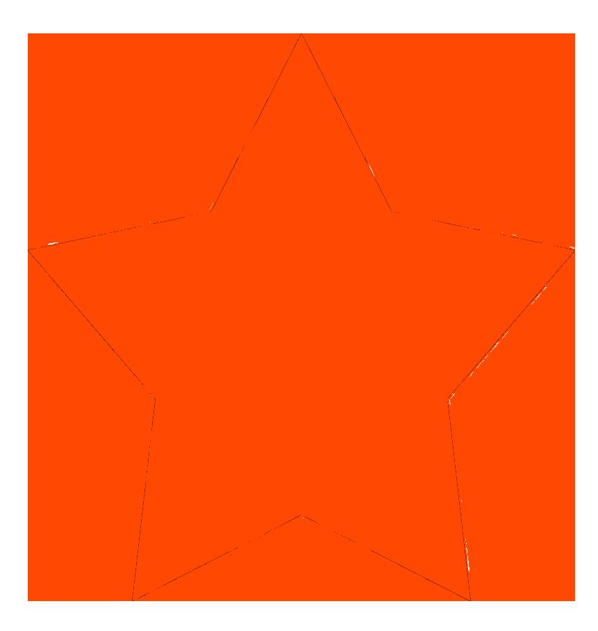 861x908 Stars Clipart Orange