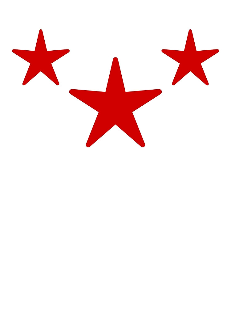 750x1000 Three Red Stars By Elle Collins Redbubble
