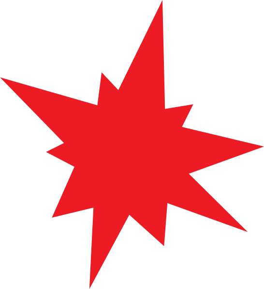 546x596 Clipart Star 5811 Red Star Clipart