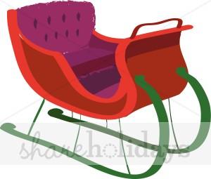 300x255 Plush Sleigh Ride Santa's Sleigh Clipart
