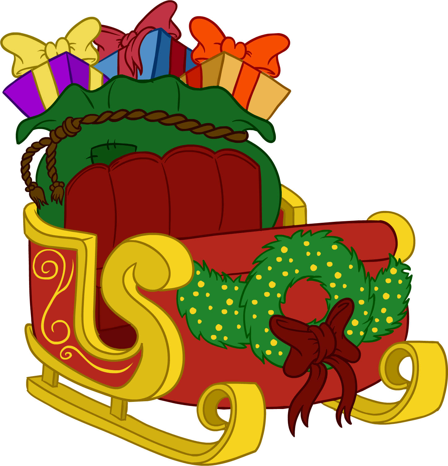 1447x1504 Santa's Sleigh Club Penguin Wiki Fandom Powered By Wikia