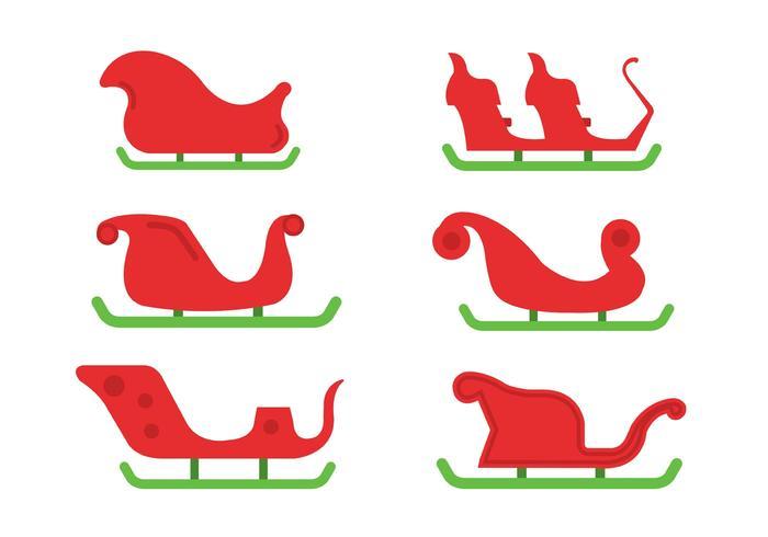 700x490 Santa's Sleigh Vector Set