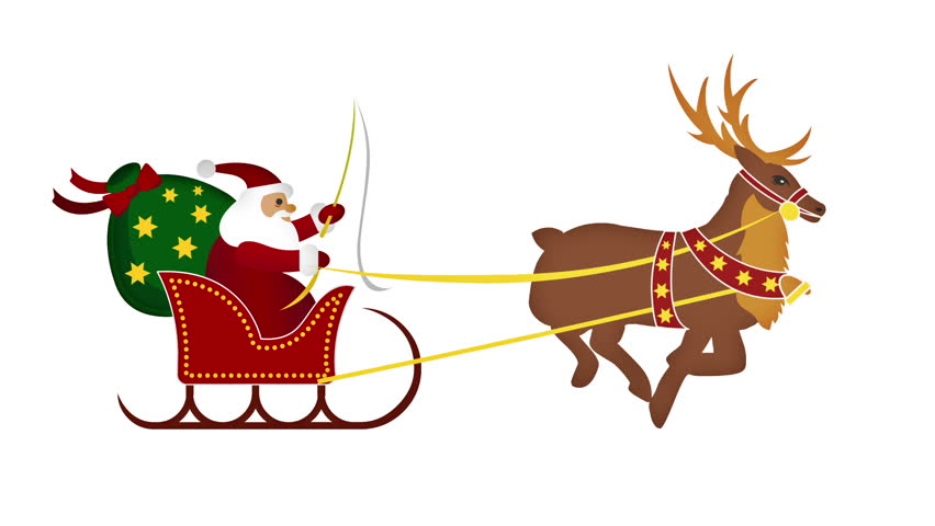 852x480 Santa Sleigh Stock Footage Video Shutterstock