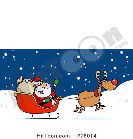 450x470 Santas Sleigh Clipart