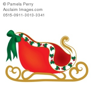 300x300 Art Illustration Of Santa's Sleigh