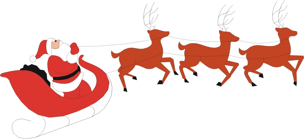 1023x469 Sleigh Clipart Flying