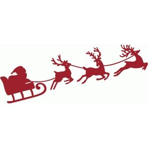 300x300 Best Santa Sleigh Silhouette Ideas Christmas