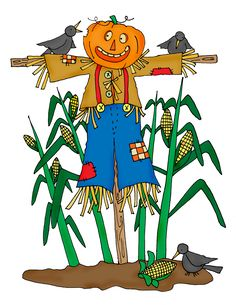 236x305 Row Of Corn And Scarecrow Clipart Snarling Scary Scarecrow