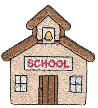 317x350 Free Clip Art Of School House