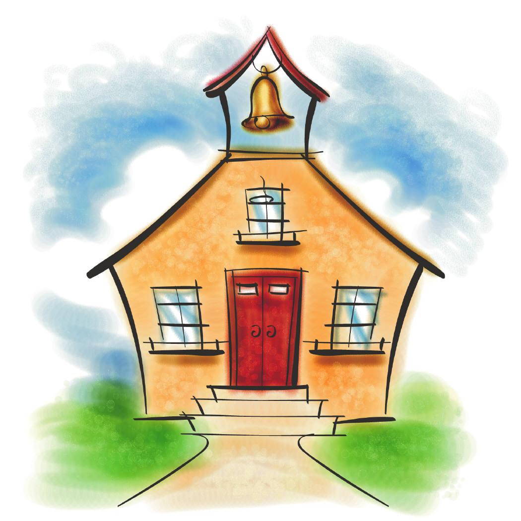 1050x1050 School House Clipart