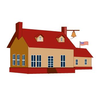 350x338 Clip Art Of A School House
