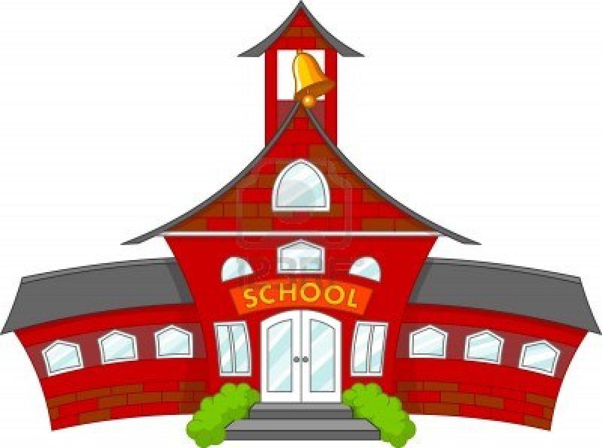 1200x894 School House Cartoon Clipart