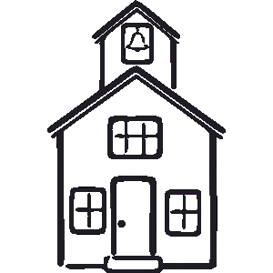 300x300 School Houses Clipart Collection