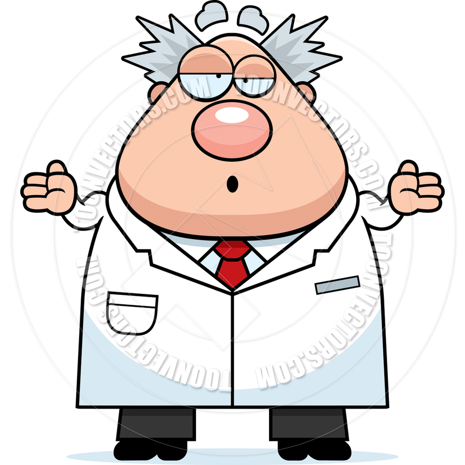 940x940 Cartoon Mad Scientist Confused By Cory Thoman Toon Vectors Eps