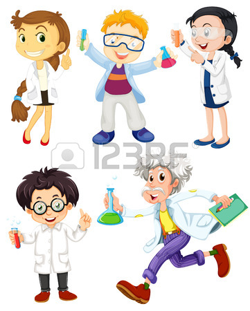 361x450 Children Are Studying And Working In The Laboratory Royalty Free