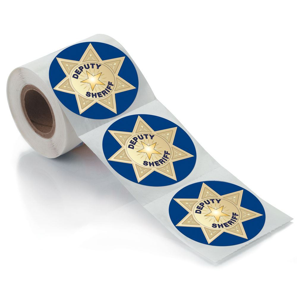 1000x1000 Deputy Sheriff Badge Stickers On A Roll Positive Promotions
