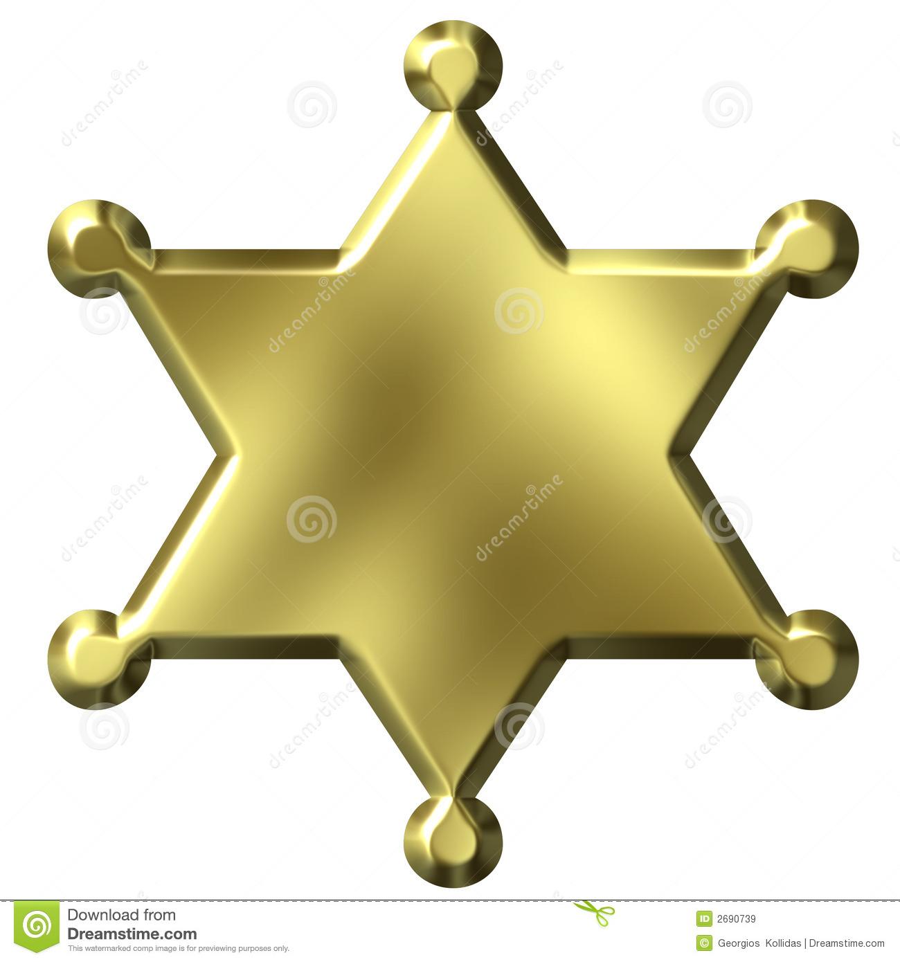 1300x1390 Sheriff Badge Clipart