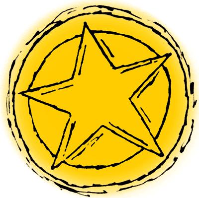 400x399 Western Sheriff Badge Clipart