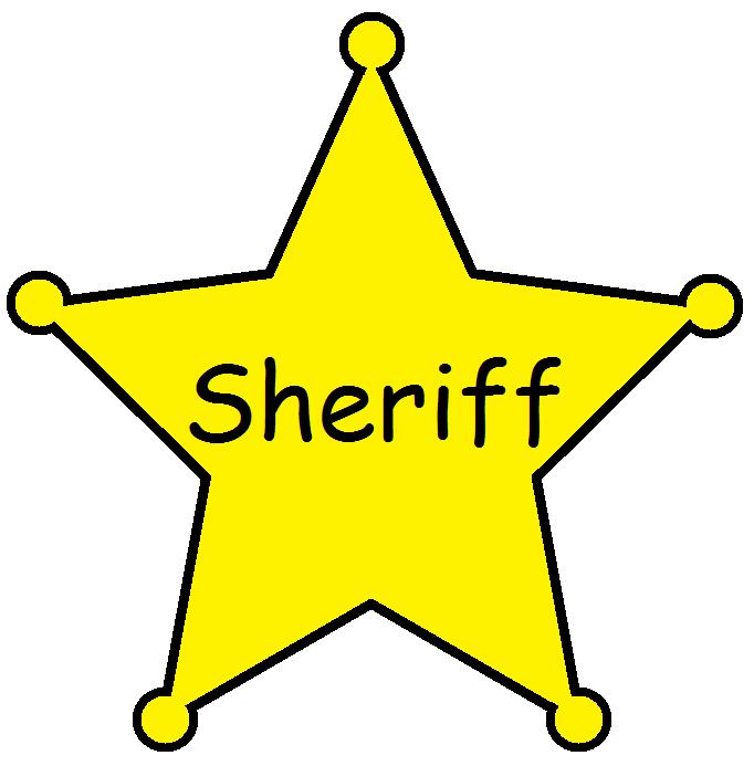 682x693 Western Clipart Sheriff Badge