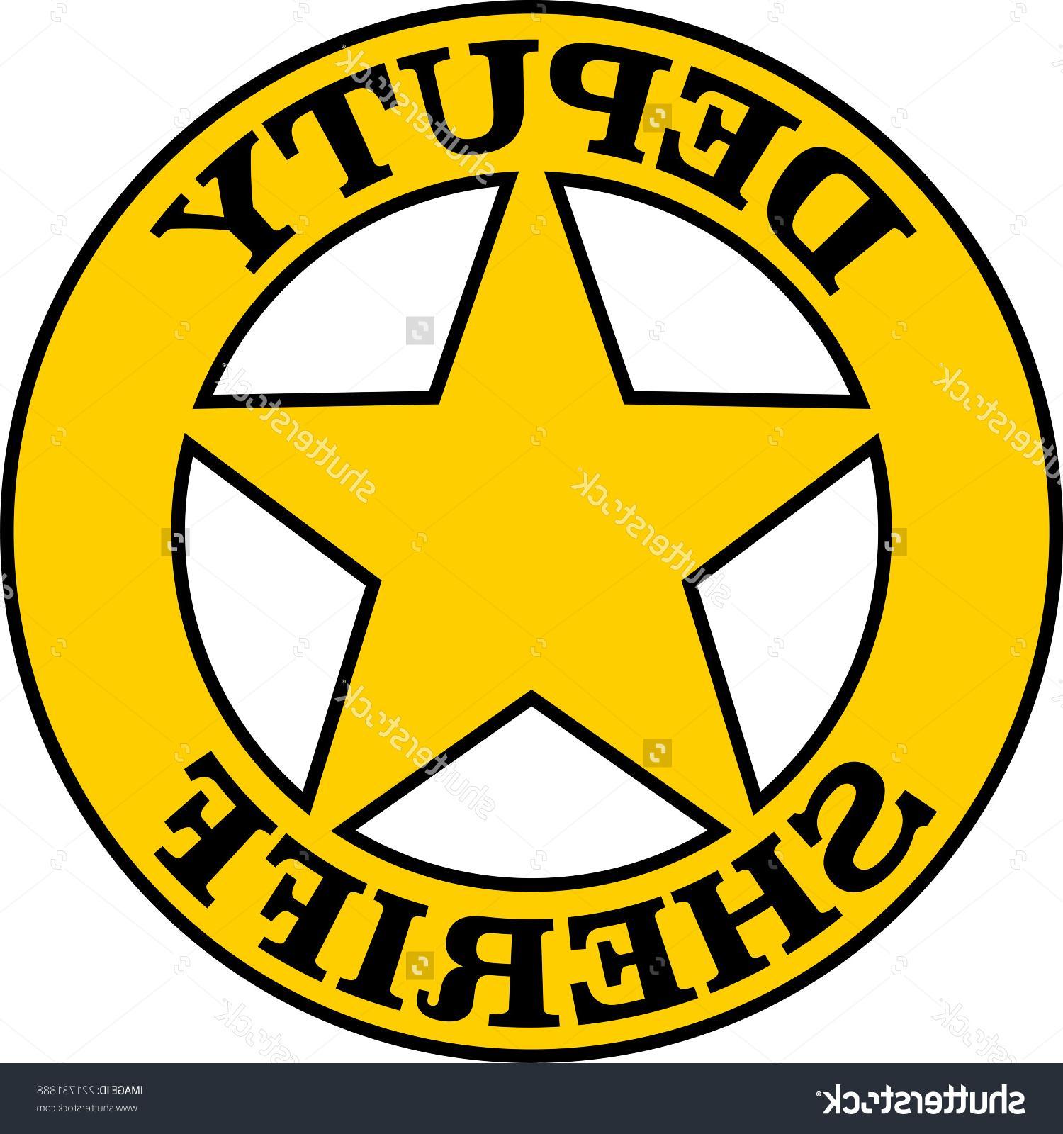 1500x1600 Best Stock Vector Deputy Sheriff Badge Star Cdr