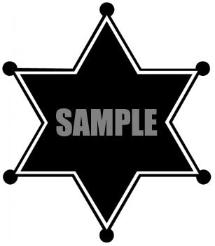 307x350 Cowboy Sheriff Badge Clip Art