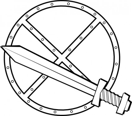 425x374 Image Of Shield Clipart