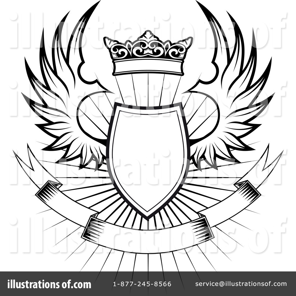 1024x1024 Winged Shield Clipart