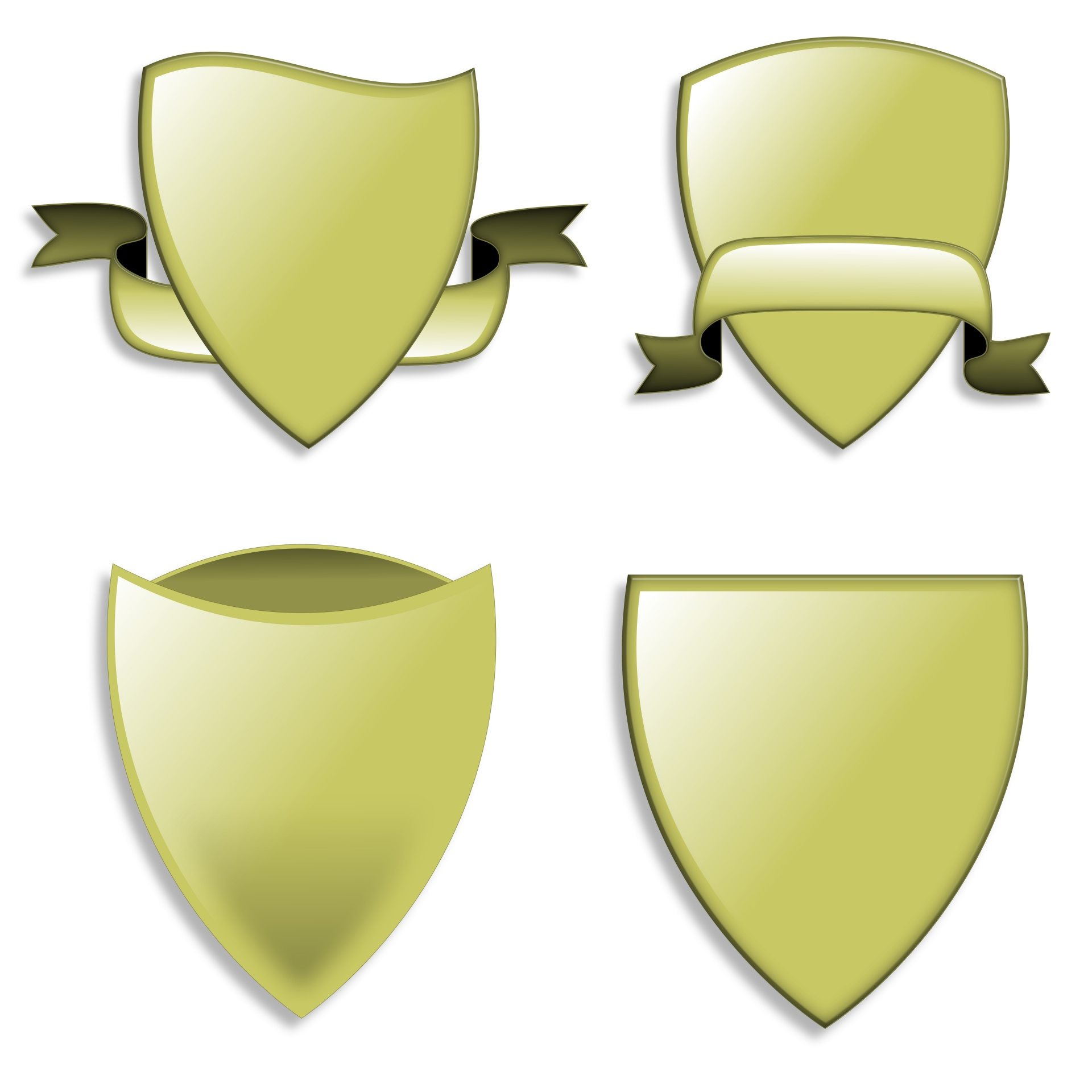 1920x1920 Green Shields Free Stock Photo