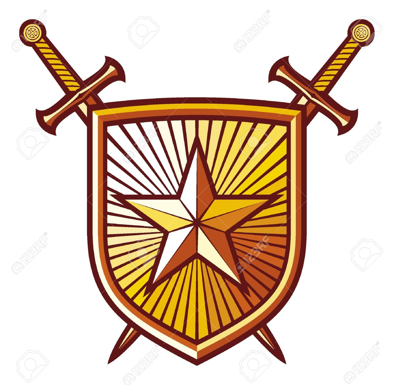 1300x1270 Images Medieval Swords And Shields Clipart