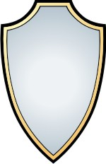 150x232 Shape of a shield clipart