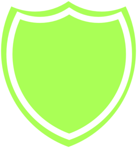 276x298 Shield Outline Green Clip Art