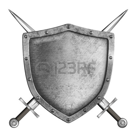 450x448 Coat Of Arms Medieval Knight Shield And Crossed Swords Isolated
