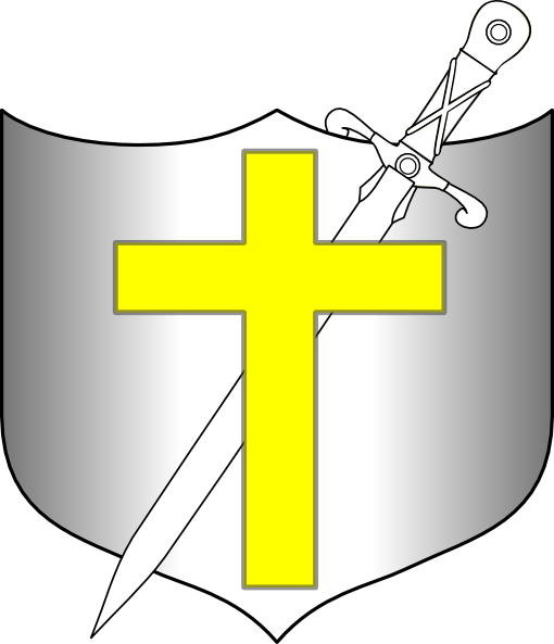 510x593 Cross Sword And Shields Clipart