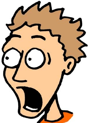 300x419 Shocked Face Clipart