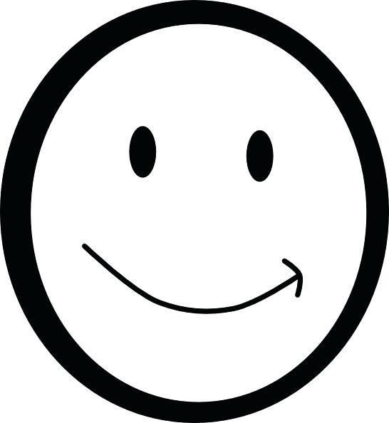 546x594 Printable Smiley Faces Emoticons Sketches Printable Smiley Faces