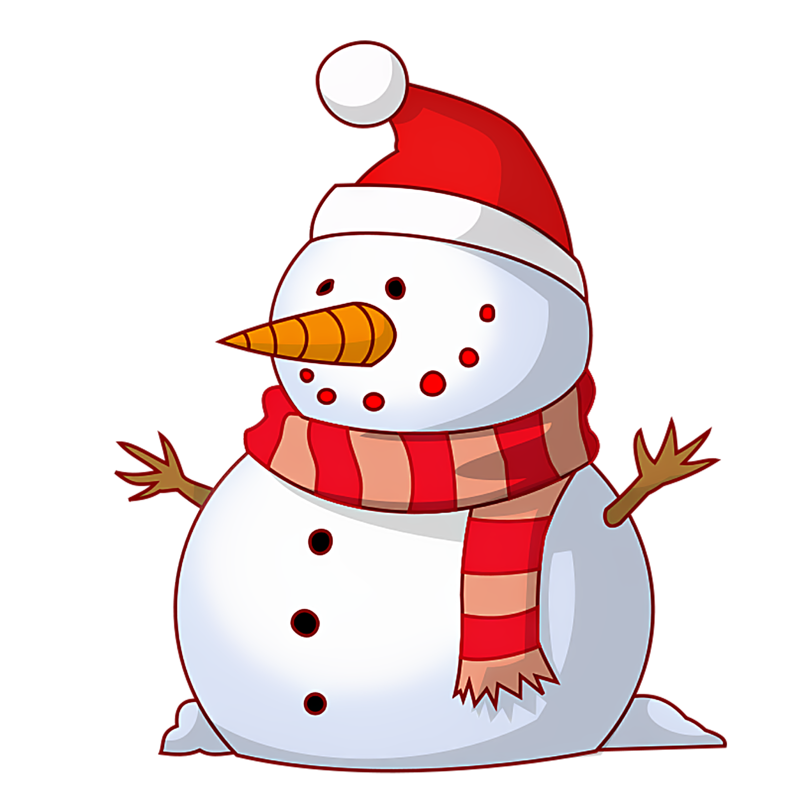 1600x1600 Christmas Snowman Clipart