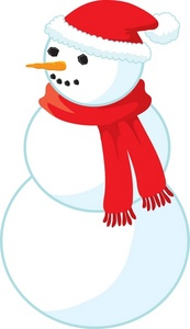 173x300 Snowman Clipart Red