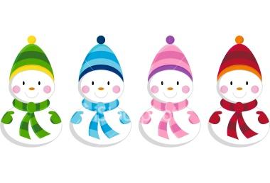 380x258 Cute Snowmen Clipart