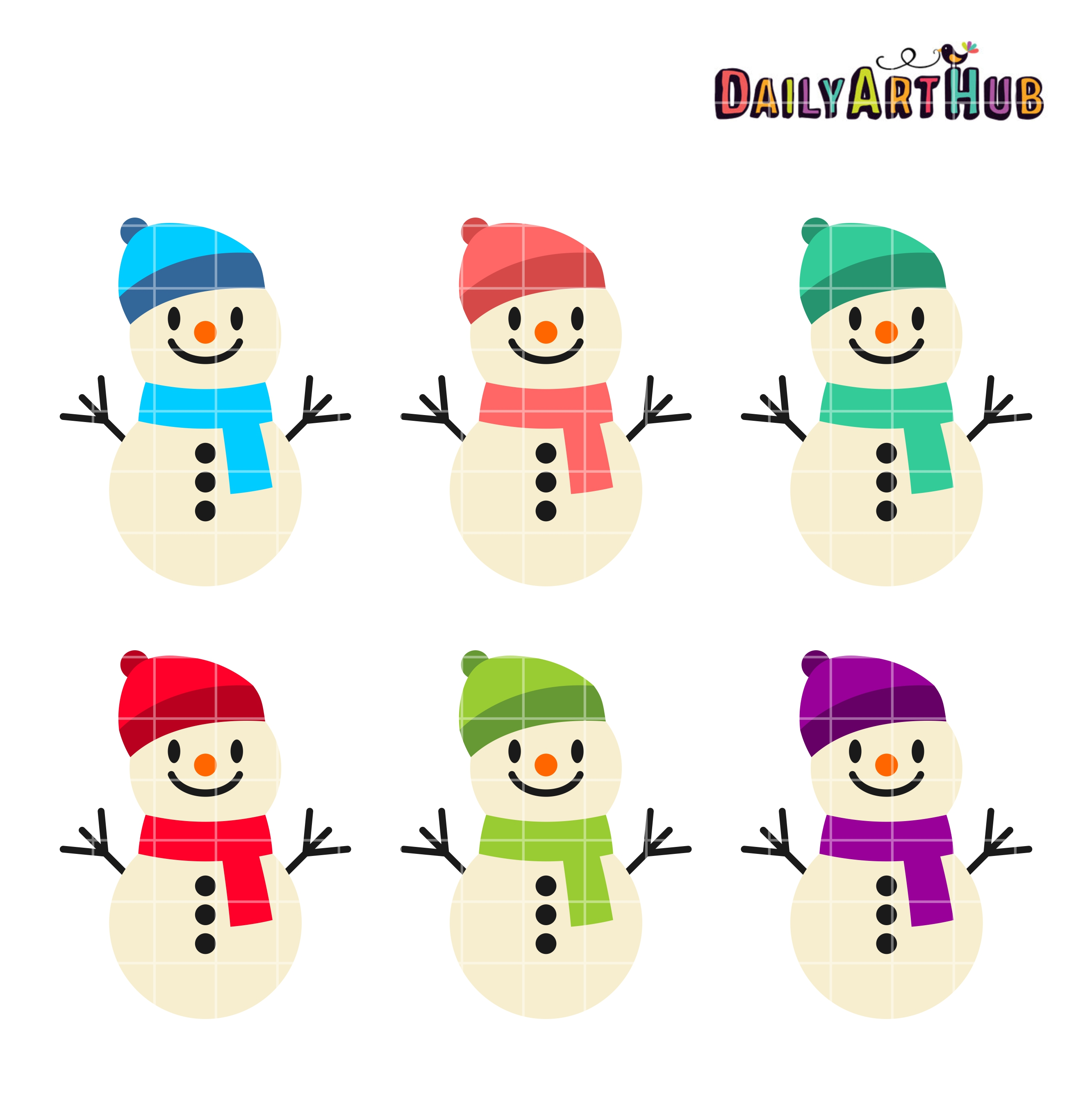 2664x2670 Funny Cute Snowmen Clip Art Set Daily Art Hub