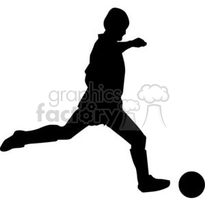 300x300 Royalty Free Silhouette Of Soccer Ball Player 379731 Vector Clip