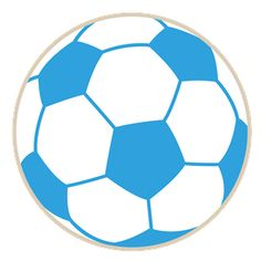 236x236 Blue And White Soccer Ball Clipart